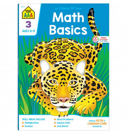 School Zone Workbook - Math Basics Deluxe - Grade 3