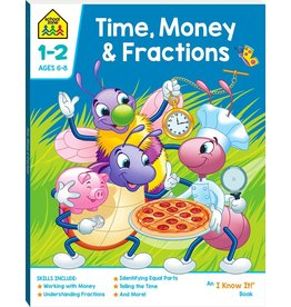 School Zone Time, Money & Fractions