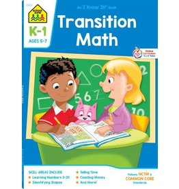 School Zone Workbook - Transition Math Grade K-1