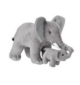 Wild Republic Plush Mom and Baby Elephant
