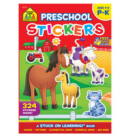 School Zone Preschool Stickers