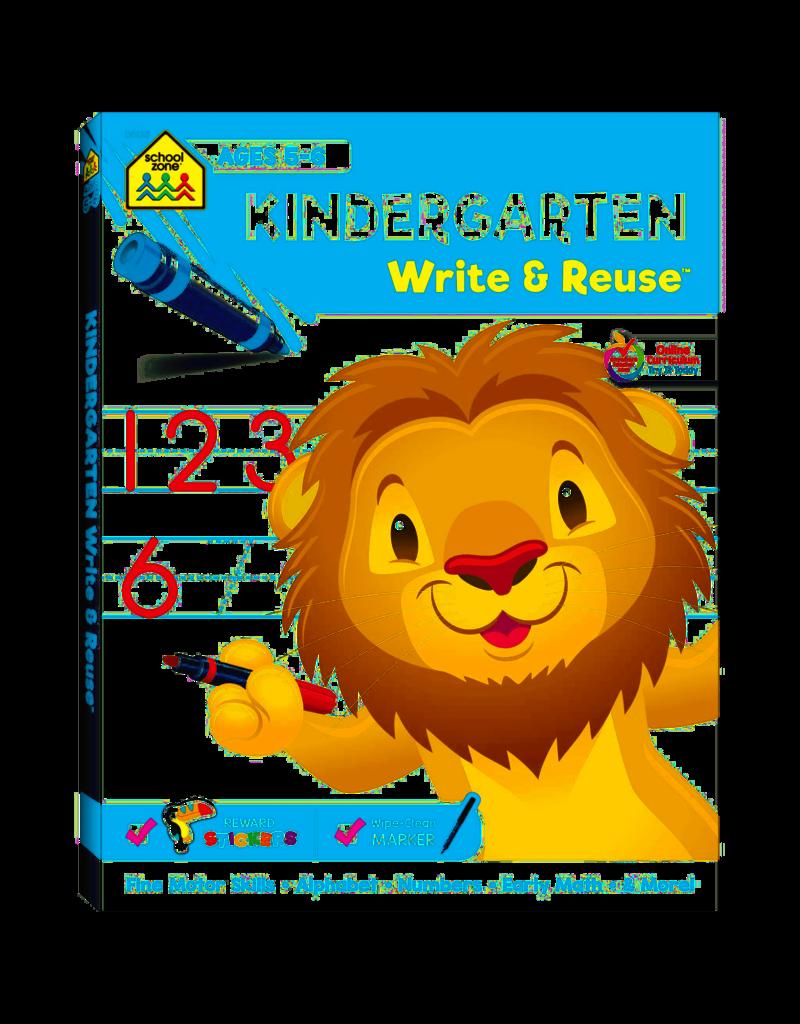 School Zone Kindergarten Write & Reuse