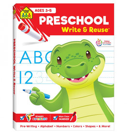 School Zone Preschool Write & Reuse