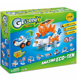 Tedco Toys Greenex ECO-Ten Transforming Science - Build 10 Concepts Driven by Solar or Generator