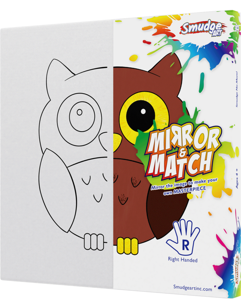 Smudge Art Craft Kit Smudge Art - Owl - Right Handed