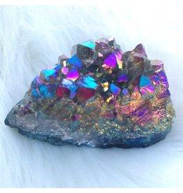 Squire Boone Village Titanium Ionized Amethyst Druse