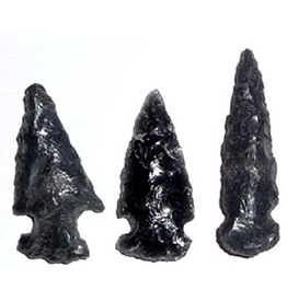 Squire Boone Village Rock/Mineral - Obsidian Replica Arrowhead