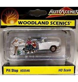 Woodland Scenics HO Scale Pit Stop - AutoScenes(TM) - Assembled