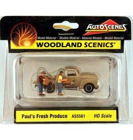 Woodland Scenics HO Scale Paul's Fresh Produce - Assembled - AutoScenes(R)