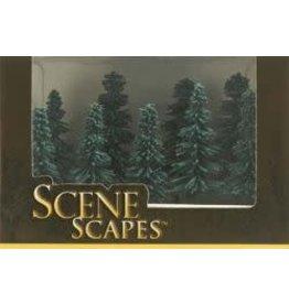 """Bachmann Hobby Bachmann Scene Scapes 3""""-4"""" Blue Spruce Trees"""