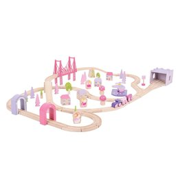BIGJIGS Fairy Town Train Set