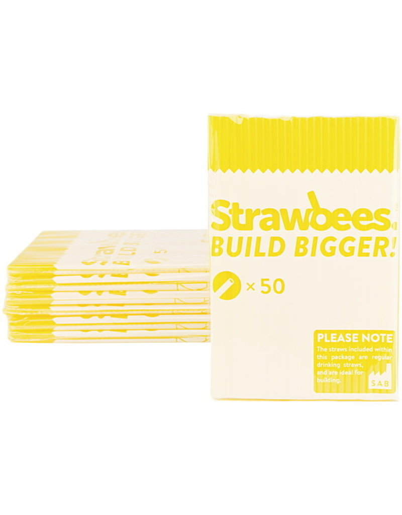 Schylling Toys Strawbees Straws - Yellow