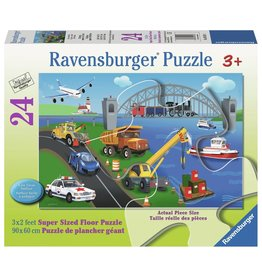 Ravensburger Ravensburger Floor Puzzle - A Day on the Job - 24 Piece