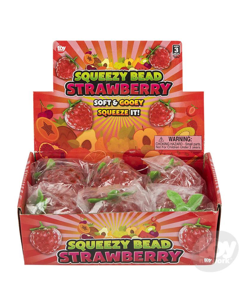 Rhode Island Novelty Squeezy Bead Strawberry