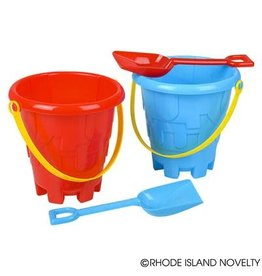 "Rhode Island Novelty 6"" Beach Sand Pail & Shovel Set"