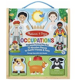 Melissa & Doug Wooden Occupations Magnetic Pretend Play Set