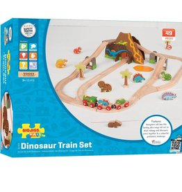 BIGJIGS Dinosaur Railway Set