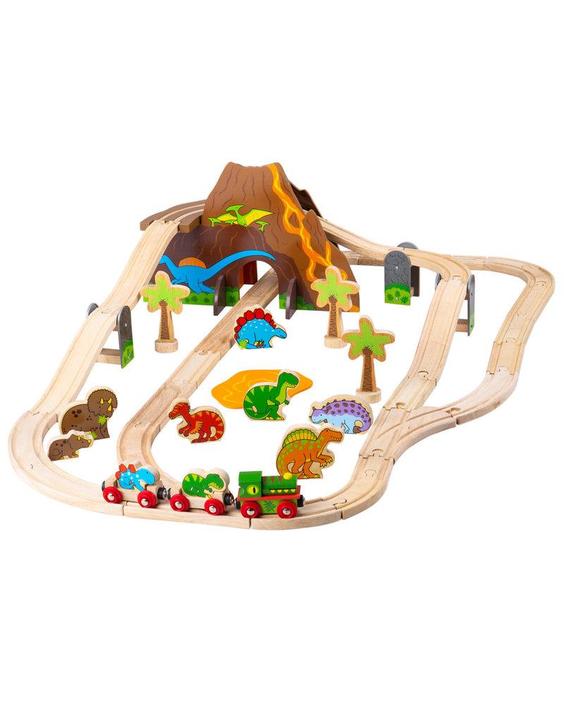 BIGJIGS Dinosaur Railway Set