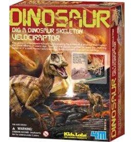 Toysmith Dig a dinosaur skeleton velociraptor