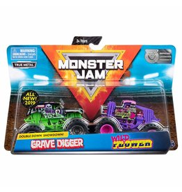 Spin Master Monster Jam 2-pack 1:64 Grave Digger and Wild Flower