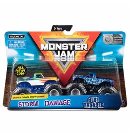 Spin Master Monster Jam 2-pack 1:64 Storm Damage and Blue Thunder