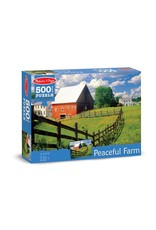 Melissa & Doug Puzzle - Peaceful Farm - 500 pieces