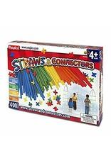 Roylco Straws & Connectors Primary 400 Piece Set