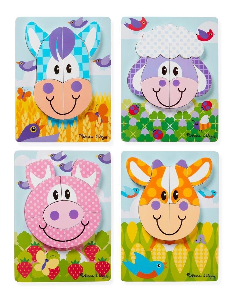 Melissa & Doug Baby First Play Jigsaw Puzzle Set - Farm