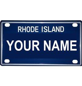 "Voorco Designs RI Mini License Plate 4"" x 2.25"" - Robert"