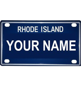 "Voorco Designs RI Mini License Plate 4"" x 2.25"" - Eddie"