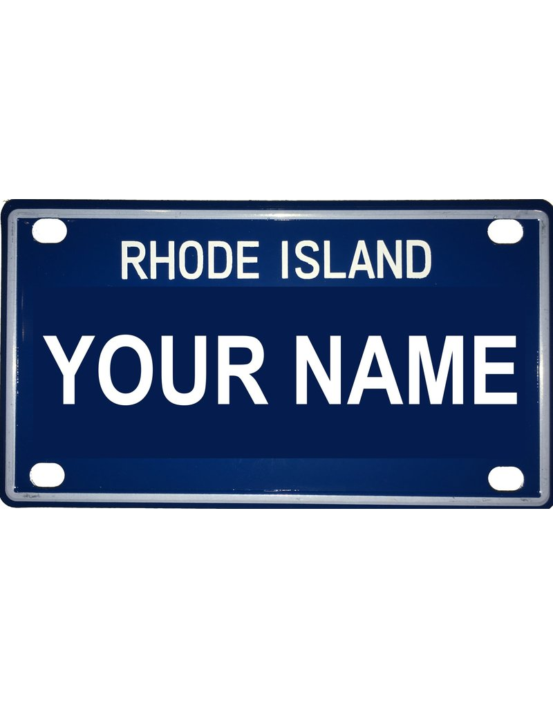 "Voorco Designs RI Mini License Plate 4"" x 2.25"" - Mike"