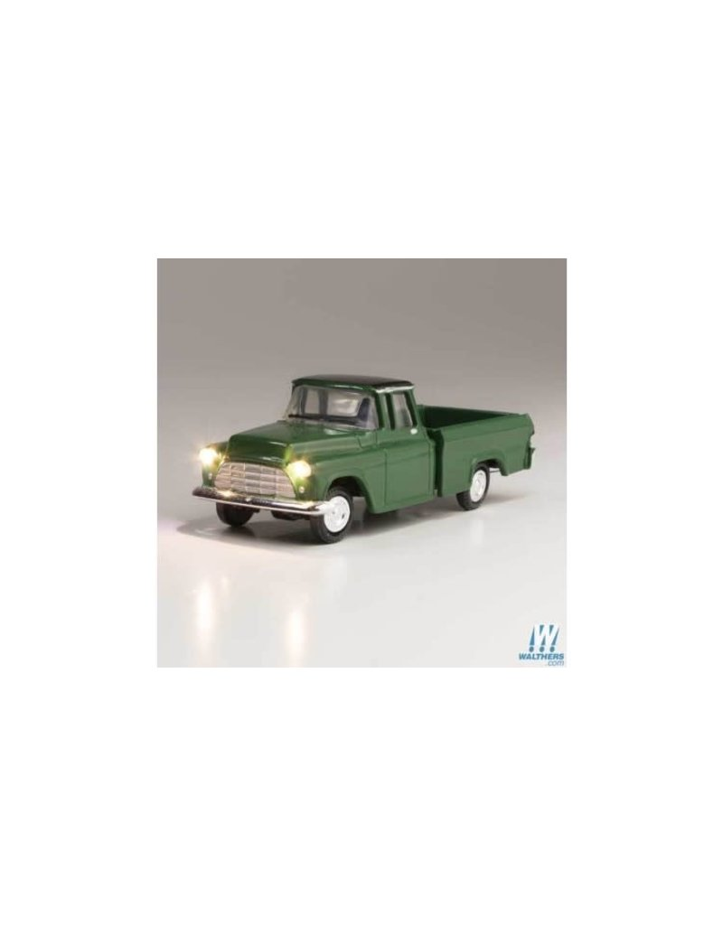 Walthers HO Scale Just Plug Green Pickup Truck