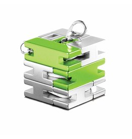 playableART Puzzle - PlayableART - Bracelet Cube - Silver / Green