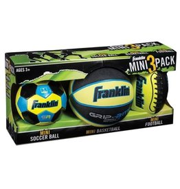 Franklin Sports Mini 3-Ball Combo Pack - Green
