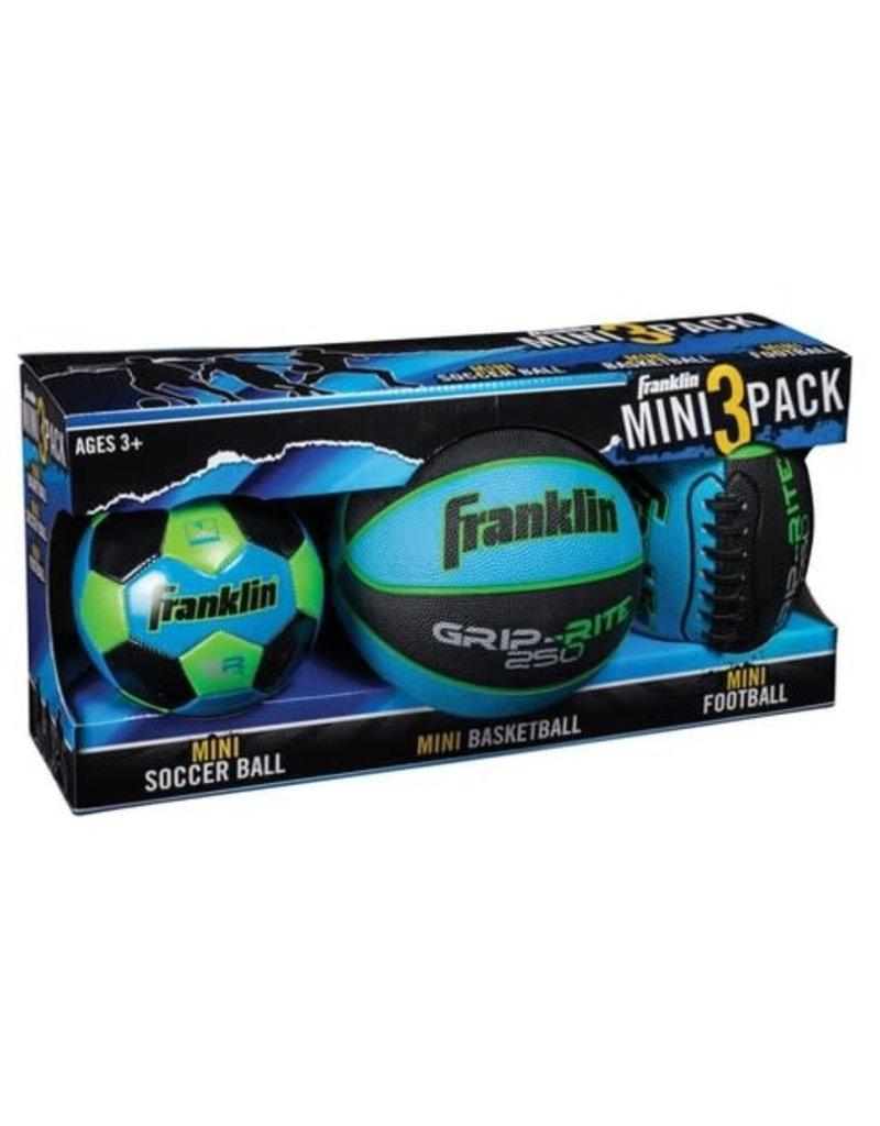Franklin Sports Mini 3-Ball Combo Pack - Blue