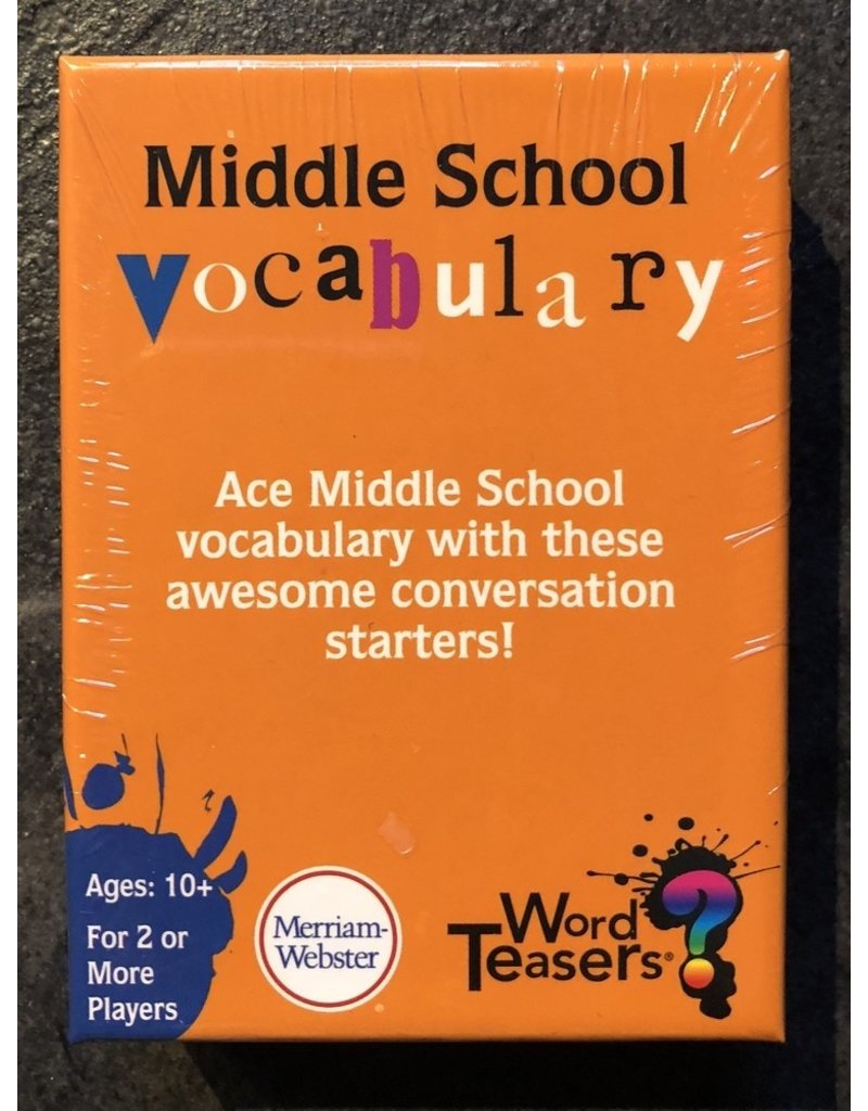 Word Teasers Game Word Teasers - Middle School Vocabulary