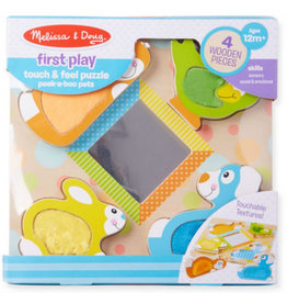 Melissa & Doug Baby First Play Peek-a-Boo Touch & Feel Puzzle
