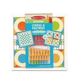 Melissa & Doug Game - Chess & Pachisi - Orange