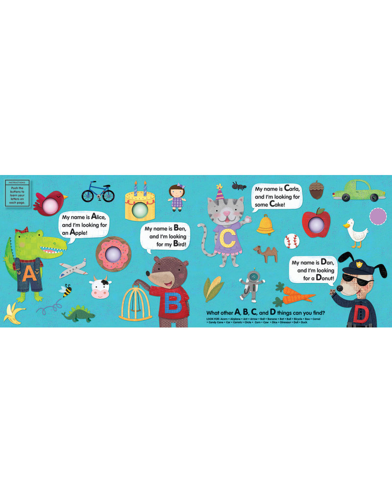 Melissa & Doug Poke-A-Dot Book: Alpha Eye Spy Book