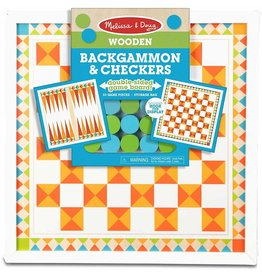 Melissa & Doug Backgammon & Checkers - 33 Game Pieces
