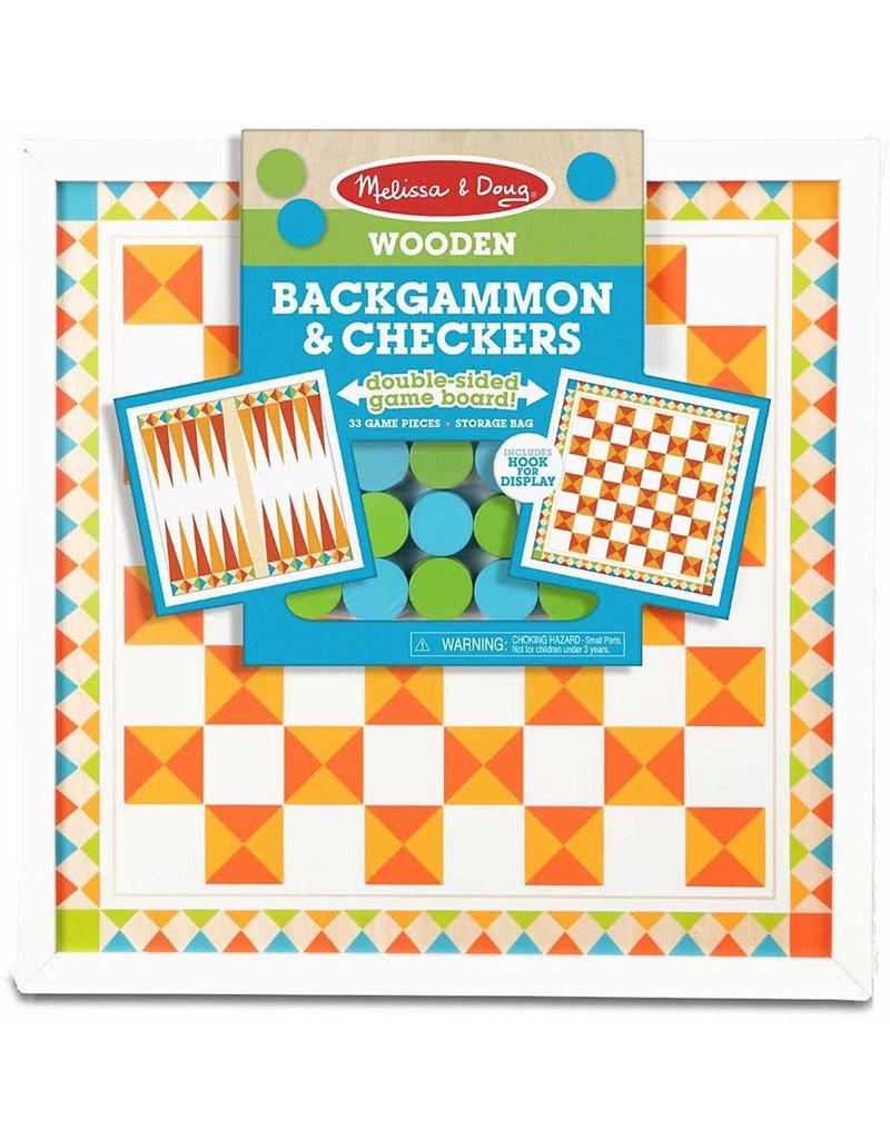 Melissa & Doug Game - Backgammon & Checkers - Orange