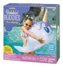 Toysmith Bobbin Buddies Narwhal-I-Cone