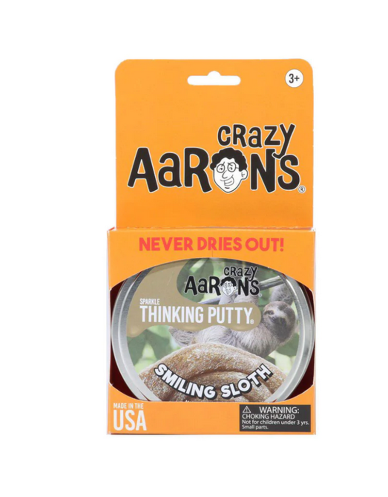 Crazy Aaron Putty Crazy Aaron's Thinking Putty - Sparkle - Smiling Sloth Sparkle Tin