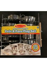 Melissa & Doug Deluxe Stainless Steel Pots & Pans Playset