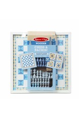 Melissa & Doug Game - Chess & Pachisi - Blue