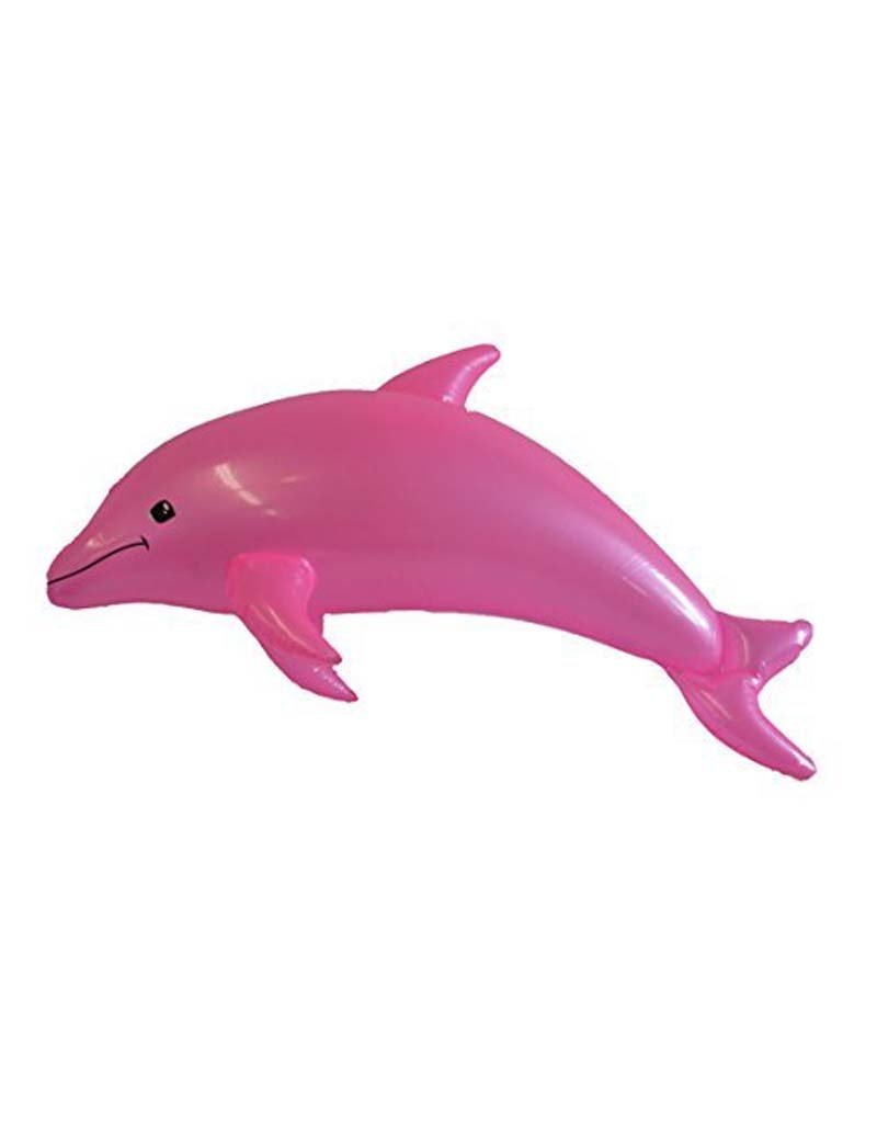 """Rhode Island Novelty Pearlized Inflatable Dolphin - Pink (40"""")"""