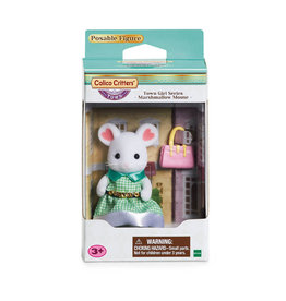 Epoch Calico Critters Town Girl Series - Stephanie Marshmallow Mouse