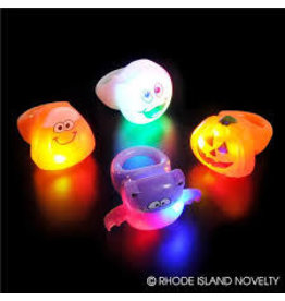 Rhode Island Novelty Novelty Halloween Light Up Rings Assorted