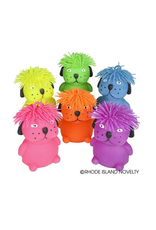 "Rhode Island Novelty 6"" Hairdo Puffer Dog (Assorted Colors)"
