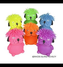 "Rhode Island Novelty 6"" Hairdo Puffer Dog (Assorted Colors)"